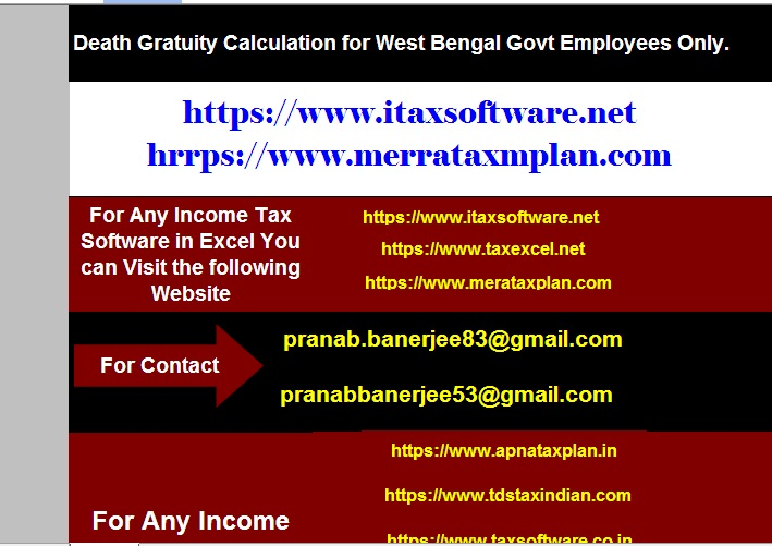 Automated Death Gratuity Calculator for the West Bengal Govt employees