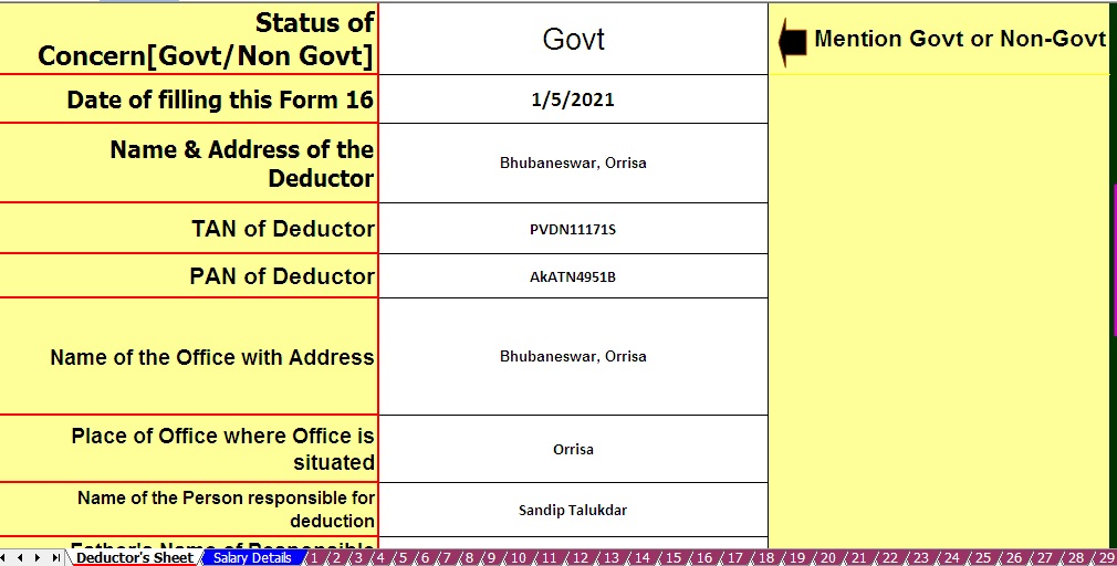 50 Form 16 Part B page 1